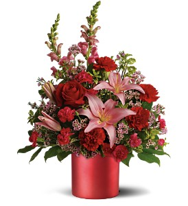 Teleflora's Red Romance Bouquet in Dubuque IA, New White Florist