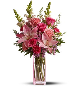 Teleflora's Pink Wink in Salt Lake City UT, Huddart Floral