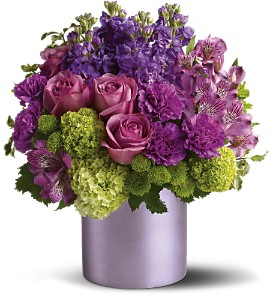 Teleflora's Purple Reign in Dubuque IA, New White Florist