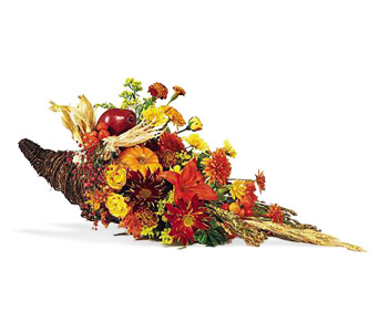Cornucopia Centerpiece in Huntington NY, Queen Anne Flowers, Inc