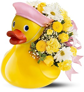 Teleflora's Just Ducky Bouquet - Girl in Tinley Park IL, Hearts & Flowers, Inc.