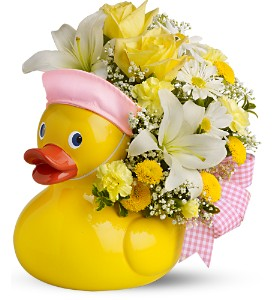 Teleflora's Just Ducky Bouquet - GIRL - Deluxe in Utica NY, Chester's Flower Shop And Greenhouses