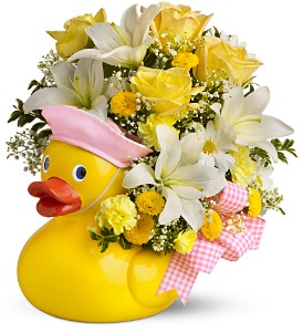 Teleflora's Just Ducky Bouquet - Girl - Premium in Kimberly WI, Robinson Florist & Greenhouses