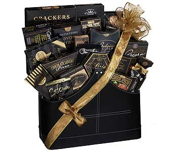 GF100 ''Royal Elegance Gourmet'' in Pleather Magazine Holder in Oklahoma City OK, Array of Flowers & Gifts
