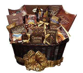 GF90 ''Chocolate Royale'' Chocolate Themed Basket in Oklahoma City OK, Array of Flowers & Gifts
