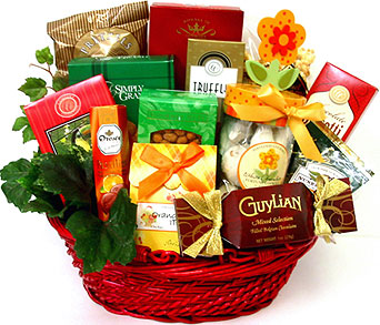 GF102 ''Warm Wishes'' Gourmet Food Basket in Oklahoma City OK, Array of Flowers & Gifts