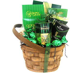 GF69 ''Lucky Break'' Gourmet Food Basket in Oklahoma City OK, Array of Flowers & Gifts