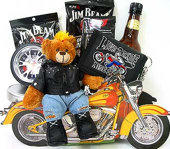 GF109 ''Live To Ride'' Motorcycle Gift Basket in Oklahoma City OK, Array of Flowers & Gifts