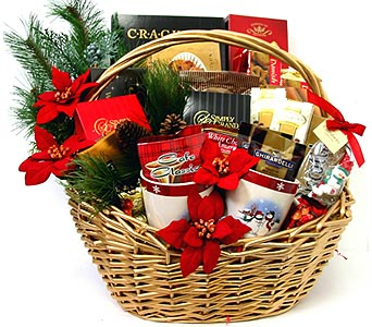 XGF128 ''Winter Feast'' Gourmet Basket in Oklahoma City OK, Array of Flowers & Gifts