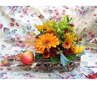 Harvest Floral Wagon in Lake Forest CA, Cheers Floral Creations