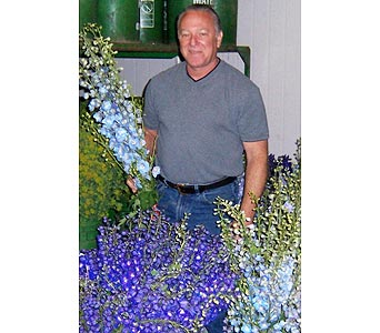 Gary the Owner & Designer is Hand Picking Your Flowers in Palm Desert CA, Milan's Flowers & Gifts
