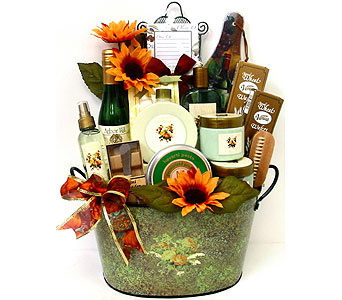 GB283 ''Perfectly Pampered'' Gift & Gourmet Basket in Oklahoma City OK, Array of Flowers & Gifts