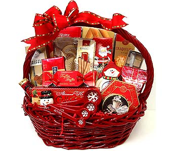 XGF131 ''Let it Snow'' Christmas Gourmet Basket in Oklahoma City OK, Array of Flowers & Gifts