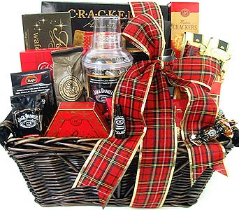 XGF135 ''Cheers to All'' Gourmet Gift Basket in Oklahoma City OK, Array of Flowers & Gifts