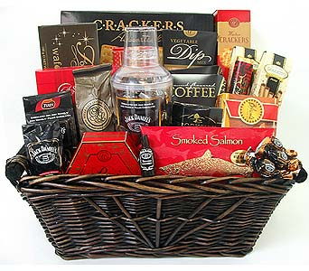 GF118 ''Cheers to All''  Gourmet Gift Basket in Oklahoma City OK, Array of Flowers & Gifts