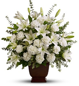 Teleflora's Sincere Serenity in Norwalk CT, Bruce's Flowers & Greenhouses