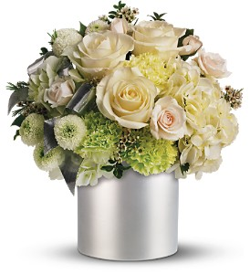 Teleflora's Silver Moon Bouquet in Dubuque IA, New White Florist