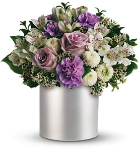 Teleflora's Silver Mist Bouquet in Dubuque IA, New White Florist