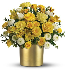 Teleflora's Golden Sunshine Bouquet in Dubuque IA, New White Florist