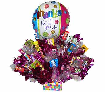 SEC30 FOR ALL YOU DO  (Candy Bouquet) in Oklahoma City OK, Array of Flowers & Gifts