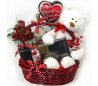 VGB229b ''Celebrate Valentines'' w Male Bear in Oklahoma City OK, Array of Flowers & Gifts