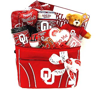 VGB227 ''Boomer Sooner Valentine'' Gift Arrangemen in Oklahoma City OK, Array of Flowers & Gifts