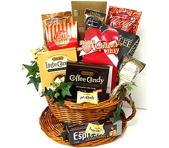 VGF38 ''Espresso Your Love'' Coffee Lover's Basket in Oklahoma City OK, Array of Flowers & Gifts