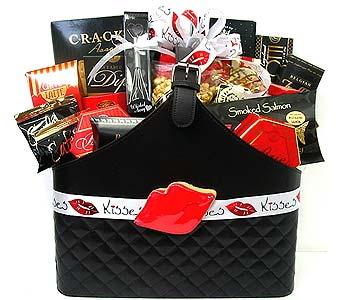 VGB322 ''Hot Lips'' Gourmet Basket in Oklahoma City OK, Array of Flowers & Gifts