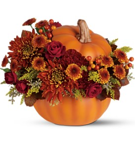 Teleflora's Prize Pumpkin Bouquet in Grass Lake MI, Designs By Judy