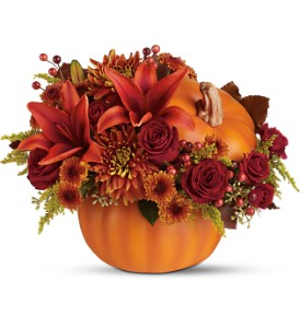 Teleflora's Prize Pumpkin Bouquet - Deluxe in Royersford PA, Three Peas In A Pod Florist