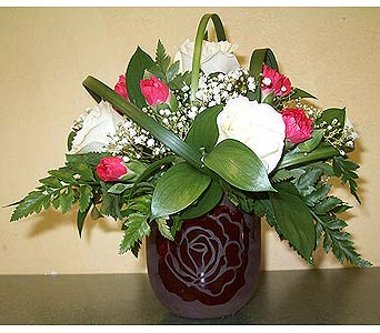 Red and White RosesPlease call for more info 888-279-7845 in Manotick ON, Manotick Florists