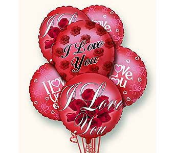 I Love You Balloon Bunch in Laurel MD, Rainbow Florist & Delectables, Inc.