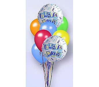 It's A Boy! Balloon Bunch in Laurel MD, Rainbow Florist & Delectables, Inc.