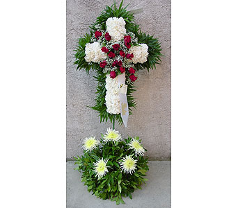 Carnation Standing Cross with Rose Break in Rockledge PA, Blake Florists