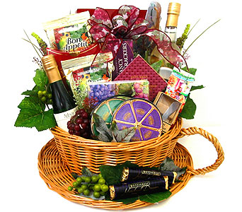 GF13 ''Grape Harvest'' Gourmet Food Basket in Oklahoma City OK, Array of Flowers & Gifts