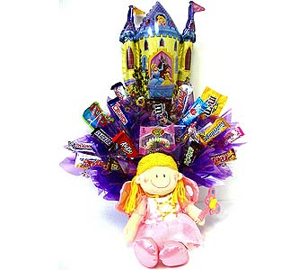 CB265 ''Our Special Princess'' Candy Bouquet in Oklahoma City OK, Array of Flowers & Gifts