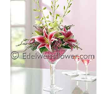 Cosmo Martini Flower Bouquet in Santa Monica CA, Edelweiss Flower Boutique