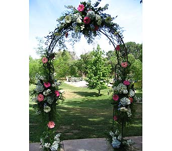 Simple Spring Arch in Bakersfield CA, All Seasons Florist