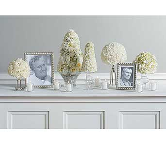 White Sympathy Arrangments in West Bloomfield MI, Happiness is...Flowers & Gifts