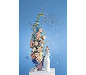 Pink and Blue Arrangment in West Bloomfield MI, Happiness is...Flowers & Gifts