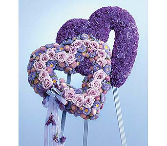 Blue and Lavender Double Heart in West Bloomfield MI, Happiness is...Flowers & Gifts