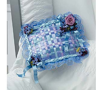 Ribbon Patchwork Pillow in West Bloomfield MI, Happiness is...Flowers & Gifts