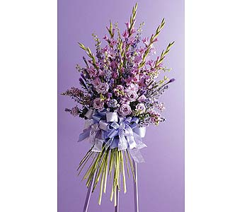 Faux Hand-Tied Bouquet Standing Spray in West Bloomfield MI, Happiness is...Flowers & Gifts