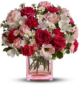 Teleflora's Pink Dawn Bouquet - Deluxe in Quitman TX, Sweet Expressions