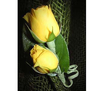 Yellow rose Boutonniere$15 in West Los Angeles CA, Westwood Flower Garden