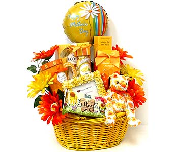 MDGF136 ''Sunny Days'' Mother's Day Gift Basket in Oklahoma City OK, Array of Flowers & Gifts