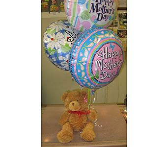 Cutie Balloon Bear in New Paltz NY, The Colonial Flower Shop