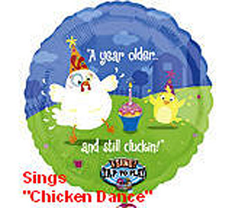 BB315 Chicken Dance 36'' Singing Balloon in Oklahoma City OK, Array of Flowers & Gifts