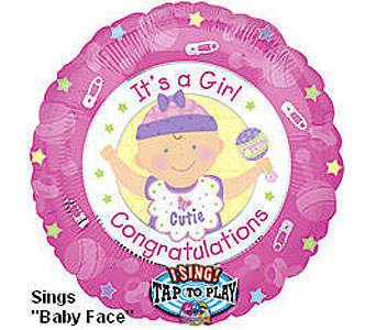 BB317 It's a Girl 36'' Singing Balloon in Oklahoma City OK, Array of Flowers & Gifts
