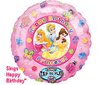 BB327 Princess Birthday 36'' Singing Balloon in Oklahoma City OK, Array of Flowers & Gifts